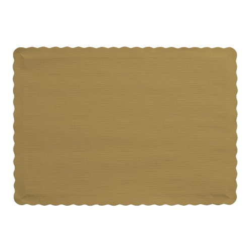 41Mj%2Bx4mPKL - Creative Converting 50 Count Touch of Color Paper Placemats, Glittering Gold