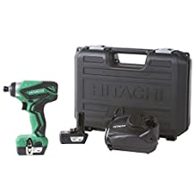 Hitachi Powertools WH10DFL2 12V Peak Li-Ion Cordless Impact Driver with 2 Batteries and Quick Charger