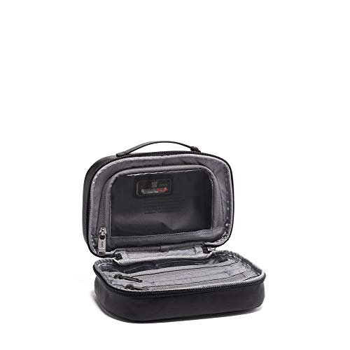 e86ab9e3c16a TUMI - Alpha 3 Leather Split Travel Kit - Luggage Accessories Toiletry Bag  for Men and Women - Black