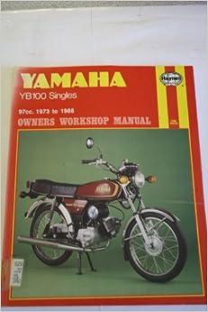 Book Yamaha YB100 Singles 1973-88 Owner's Workshop Manual