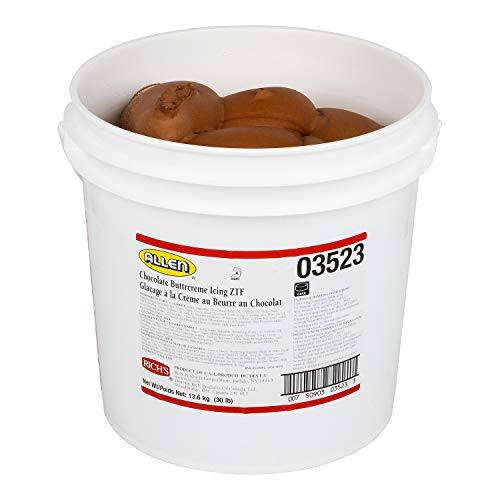 Rich's JW Allen Pre-Whipped Chocolate Buttrcreme Icing ZTF, 30 lb by Rich's (Image #2)