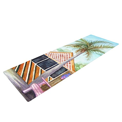 Kess InHouse Rosie Brown Yoga Exercise Mat, McT on Sanibel, 72 x 24-Inch
