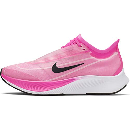 Nike Women Zoom Fly 3 Running Shoe (9.5, Pink) (Best Running Shoes For Low Arches 2019)