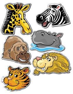 90 X Bambini Animali Della Giungla Adesivi Disegni Comprendono