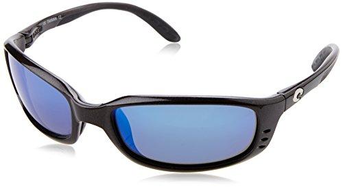 Costa Del Mar Brine Sunglasses, Gunmetal, Blue Mirror 400G - 400g Del Costa Mar