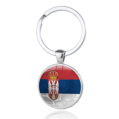 e9547bbe4c8 2018 FIFA World Cup - Serbia National Flag Football Pattern Keychain