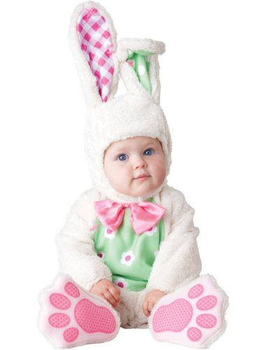 InCharacter Baby's Baby Bunny Costume, White, (Baby Girl Bunny Costume)