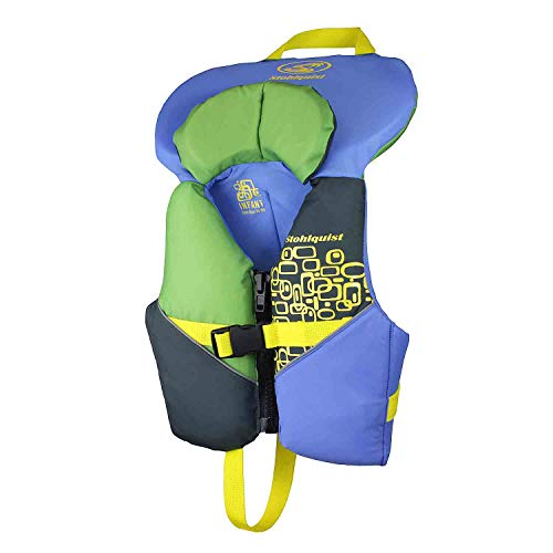 Stohlquist Toddler Life Jacket Coast Guard Approved Life Vest for Infants-Blue/Green-Infant ()