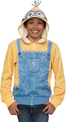 Childs Despicable Me Minions Minion Hoodie Costume Small-Medium 6-10
