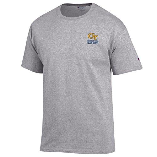Champion NCAA Georgia Tech Men's Men's Flexbone Short sleeve T-Shirt, Small, Gray Georgia Tech Mens Shorts