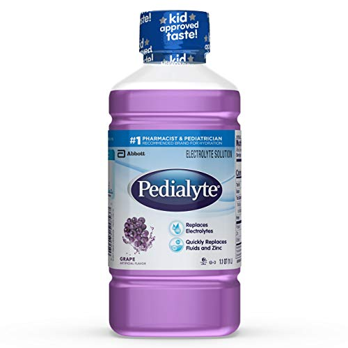 Pedialyte Electrolyte Solution, Hydration Drink, Grape, 1 Liter, 8 Count