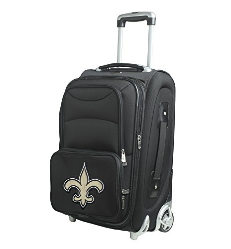 NFL New Orleans Saints In-Line Skate Wheel Carry-On Luggage, 21-Inch, Black