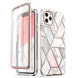 i-Blason [Cosmo] Funda Para iPhone 11 Pro Max, [Resistente a los arañazos] con purpurina de cuerpo completo brillante parachoques carcasa con protector de visualización integrado(Mármol)