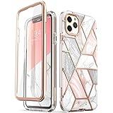 i-Blason Cosmo Series Capa Capinha Protetora para iPhone 11 Pro Max 2019, Capa Protetora Fina e Elegante de Corpo Inteiro, com Protetor de Tela embutido(Mármore)