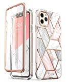 Wireless : i-Blason Cosmo Series Case for iPhone 11 Pro Max 2019 Release, Slim Full-Body Stylish Protective Case with Built-in Screen Protector (Marble)