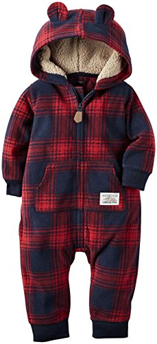 (Carter's Baby Boys' 1 Piece Footies and Rompers, Navy, 9 Months)
