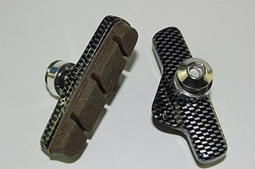 2 pairs of Brake Pads, Holders + Pads for Campagnolo Super Record 11 Speed Compatible ,Campy for carbon ()