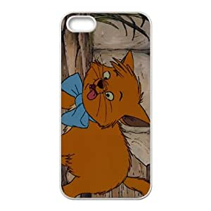 iPhone 5 5s Cell Phone Case White Disney The Aristocats Character Toulouse Qyxw