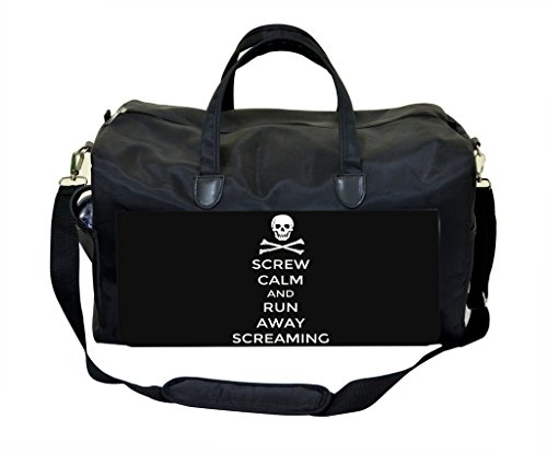 Screw Calm and Run Away Screaming Sports Bag (Tombstone Funny Quotes)