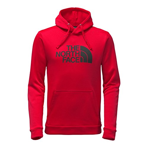 The North Face Men's Surgent Pullover Half Dome Hoodie - TNF Red & TNF Black - S by The North Face