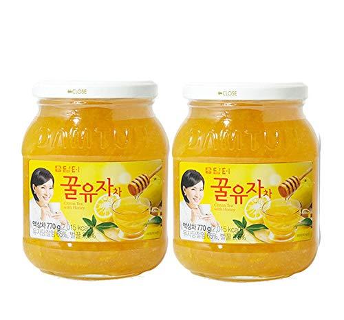 DAMTUH Korean Honey Citron Tea, Citron Tea with Honey, 27.16 Oz (770g) x 2 Bottles ()