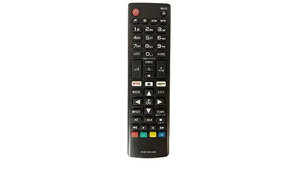 FYCJI Nuevo Reemplazo Mando LG AKB75095308 para Mando LG Smart TV Ajuste para Mando a Distancia LG con Netflix Amazon Botones: Amazon.es: Electrónica