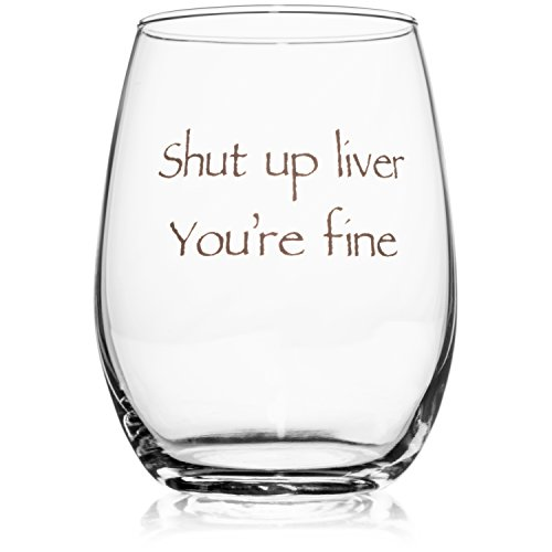 Wedding Wine Gift - Funny Stemless wine glass (15 oz) - Great for Bachelorette Parties - Unique Wine Glasses - Restaurant Quality for Red or White Wine - A fun Gift for Any Wine Lover by WineLolz (Image #1)