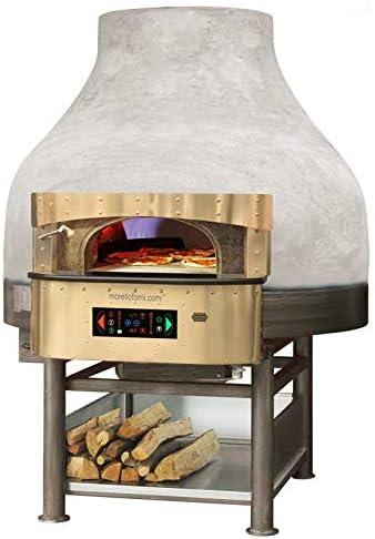 Morello Forni – Horno rotatorio híbrida a madera/Gas 6 pizzas acabado Vulcano Base: Amazon.es: Hogar