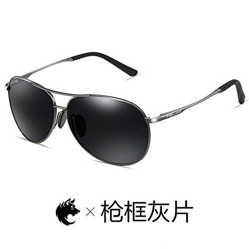 de gafas de dorado KOMNY de en de polvo hombres gafas Black conducción Gafas controlador sol Ash personalidad de Definition Frame sol pionero High marco sol polarizadas Bobbi Gafas Gun 7wXEqzXH