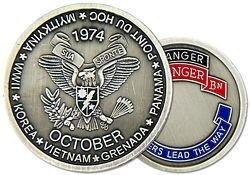 US Army Ranger 2nd Ranger Battalion Challenge (Battalion Challenge Coin)