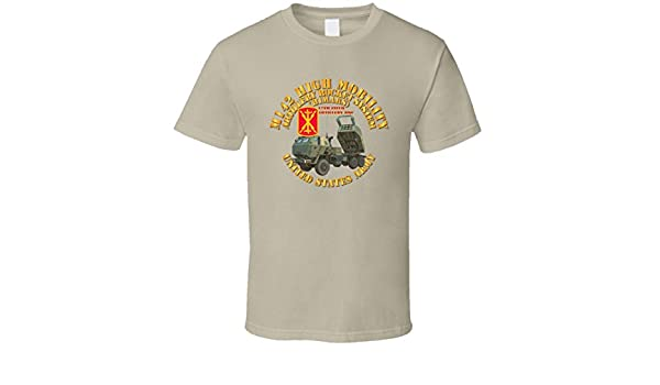 Artillery Tan 17th FA Bde SMALL M142 High Mobility Artillery Rocket System T Shirt