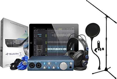 Presonus Audiobox Itwo Studio With Hd7 Headphones  M7 Mic  S1 Artist  Pop Filter  And Mic Stand
