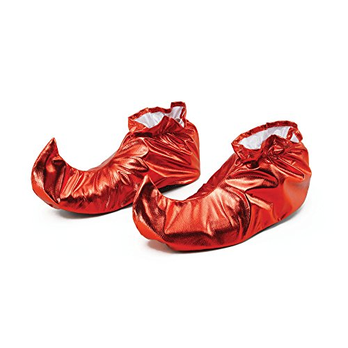Bristol Novelty BA628 Jester Shoe Covers Red Metallic, One Size ()