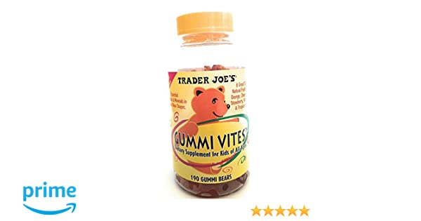 Amazon.com: Trader Joes Kids Gummi Vites-190 Bears: Health & Personal Care