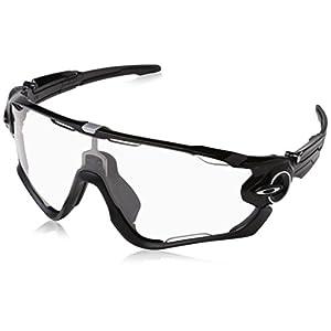 Oakley Men's Jawbreaker OO9290-14 Non-Polarized Iridium Shield Sunglasses, Polished Black, 131 mm