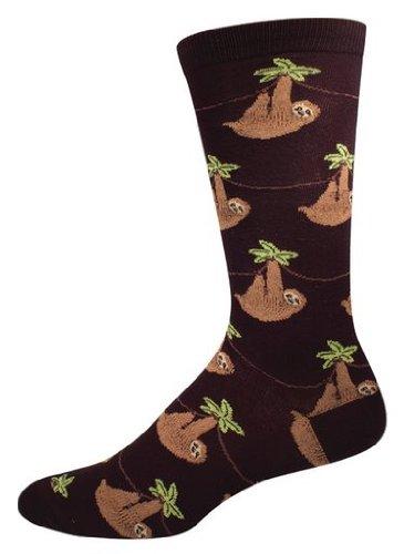 Socksmith Men's Sloth Crew Socks in Black