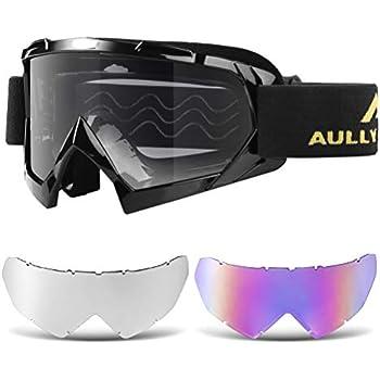04edcbe3a43b Amazon.com  4-FQ Motorcycle Goggles Dirt Bike Goggles Anti UV Safety ...