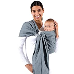 Beco Ring Sling Carrier The classic way to carry your baby from newborn through toddler. One size fits all. No buckles or snaps necessary. - 100 percent Cotton - Made in USA Included with Ring Sling Baby Carrier: - Gathered Shoulder - Large A...