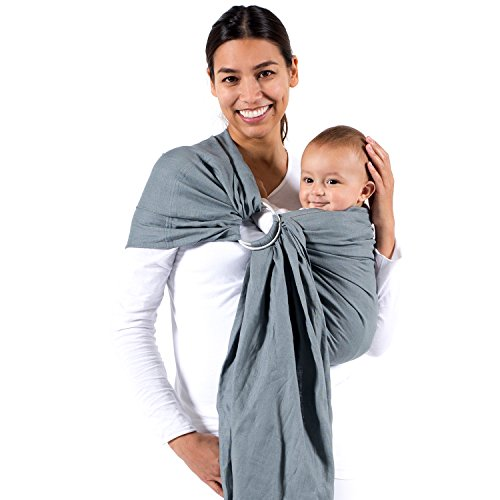 Amazon Com Beco Baby Carrier Ring Sling Carrier In Cloud Baby