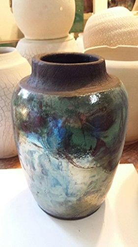 Raku Pottery Bowl, Hand Thrown Pottery bowl, Raku Glaze, Deep Blue, Midnight Blue, Iridescent, FREE 2-3 DAY PRIORITY SHIPPING (Raku Glazes)