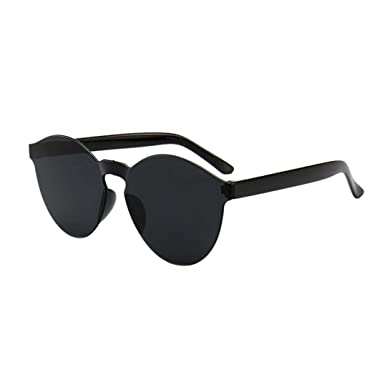 Amazon.com: Gafas de sol transparentes para hombre y mujer ...