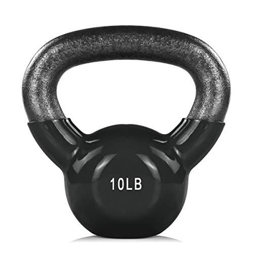 ZHERMAO Kettlebell Weights Vinyl Coated Kettle Bell, Solid Cast Iron Strength Training Kettlebells, Kettle Balls for Men…