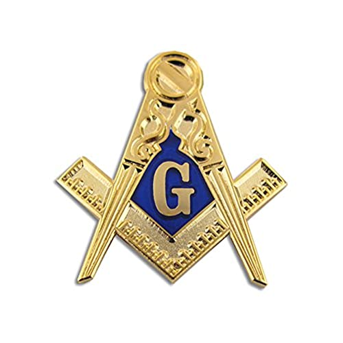 cheap PinMart's Gold Masonic Symbol Compass Enamel Lapel Pin save more