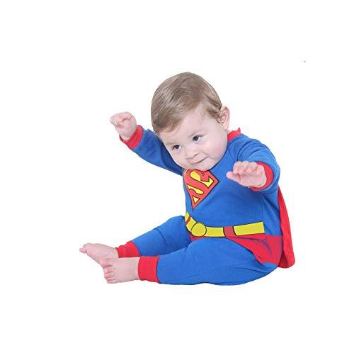 Fantasia Macacão Super Homem Bebê 911414-M