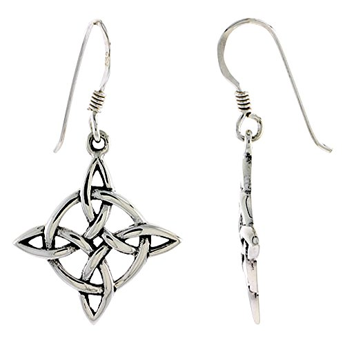 Sterling Silver Celtic Witches Earrings
