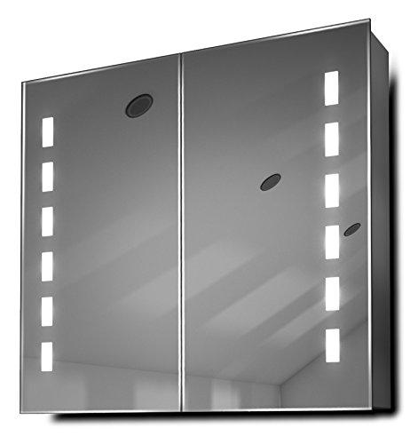 Sacha LED Bathroom Cabinet With Demister Pad, Sensor