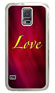 Samsung S5 waterproof cover Love PC Transparent Custom Samsung Galaxy S5 Case Cover