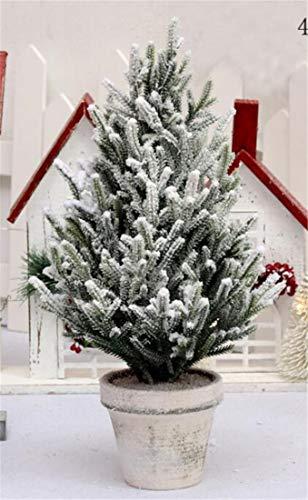 SPP PANDA Árbol de Navidad en Maceta Decoración de la Planta Pino nevado PE Cedar simulado 40CM