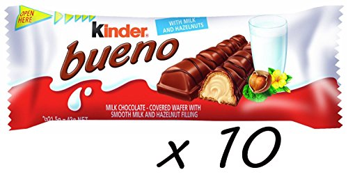 Kinder Bueno Milk Chocolate 43g Pack Of 10 Import It All