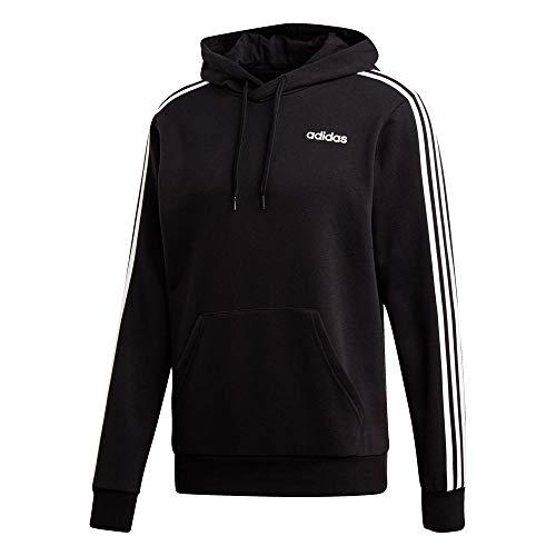 French Uomo Essentials Noir 3 blanc Terry Adidas Cappuccio Con Stripes Pullover Felpa qI1wWzSTU